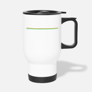 Spectrum Computer 48k zx spectrum inspired rainbow stripe - Travel Mug