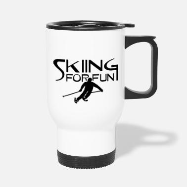 Ski Area ski resort skies ski area skiing - Travel Mug