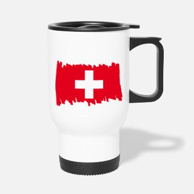 Pays Drapeau national suisse - pinceau - Mug isotherme