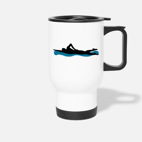 Swim Mugs & Drinkware - swimming - Travel Mug white