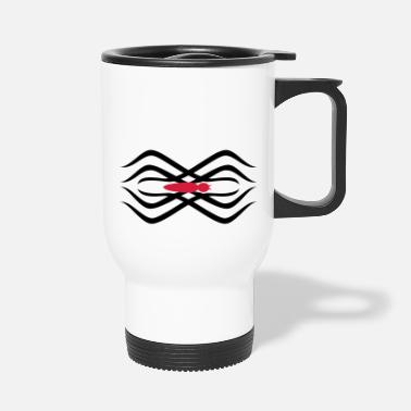 Tatoo tribal Spinnen-Tatoo / tribal spider tatoo (2c) - Travel Mug