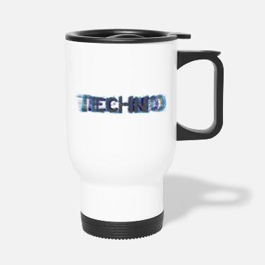 Sau Techno Glitch Ich liebe Techno - Thermobecher