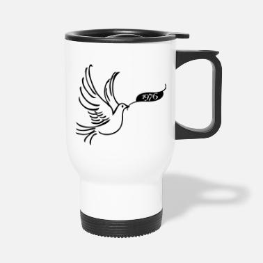 Year 1976 Peace dove with year 1976 - Travel Mug