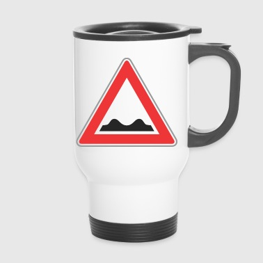 Road sign bad way - Travel Mug