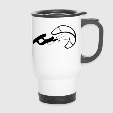 Kiteboard Kitesurfer in kiteboarding with Kiteboard - Travel Mug