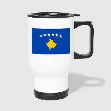 Kosova Flagge - Thermobecher
