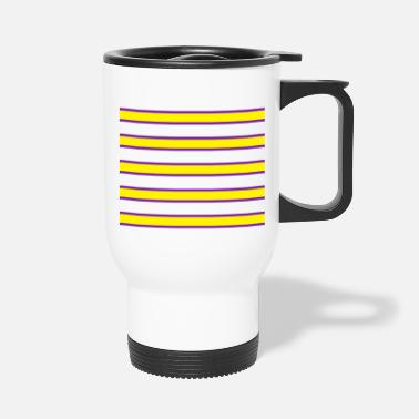 Different Violet and Yellow pattern custom printing clothes - Travel Mug