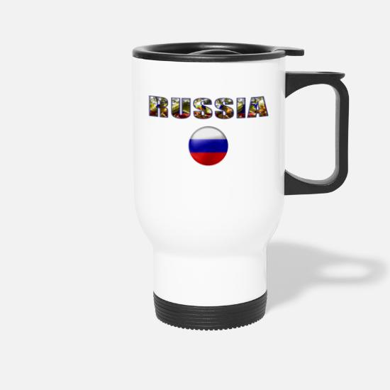 Russia Mugs & Drinkware - Russia - Travel Mug white