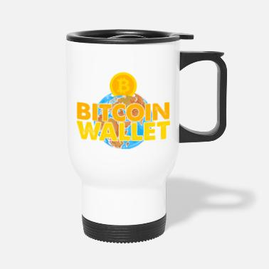 Moon Bitcoin, BTC and Crypto, Money - Travel Mug