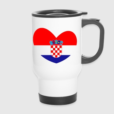 Croatia Croatia flag, Croatia, Croatia heart - Travel Mug