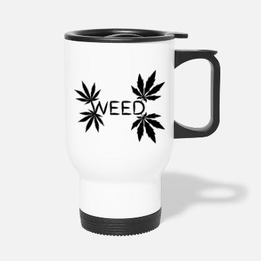 28 Days Later weed lettering four leaves sati and indi - Travel Mug