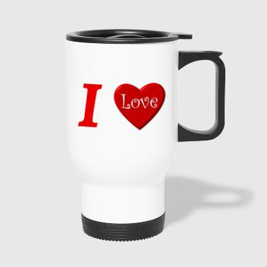 I love I love in Love - Travel Mug