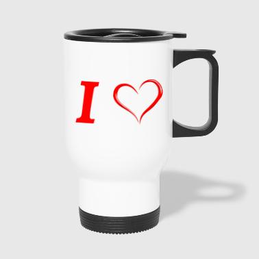 I love I love in Love - Mug thermos