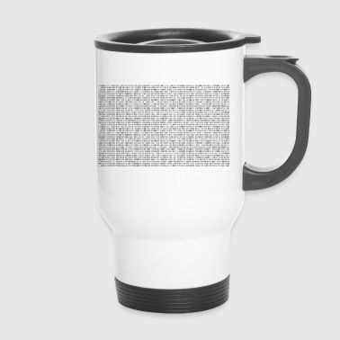 binary - Travel Mug