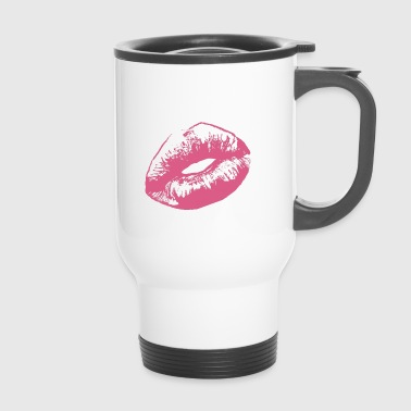 Kissing Lips kiss lips - Travel Mug