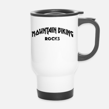 Mountain bike Heavy Metal mountain biking rocks - Travel Mug
