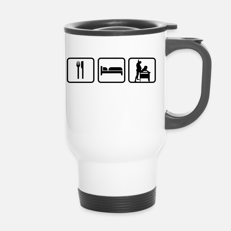 Sayings Mugs & Drinkware - Eat Sleep Sex - Travel Mug white