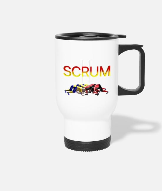 SCRUM RUGBY Mugs & Drinkware - SCRUM RUGBY - Travel Mug white