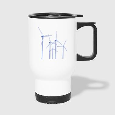 wind turbines - Travel Mug