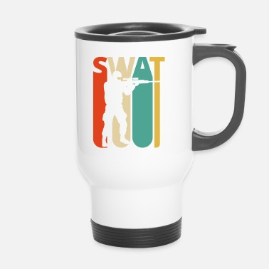 Swat Vintage Retro Swat Team. CO19. Swat Officer Gifts - Kubek termiczny