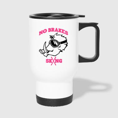 PISTENSAU NO BRAKES 2coloured - Travel Mug