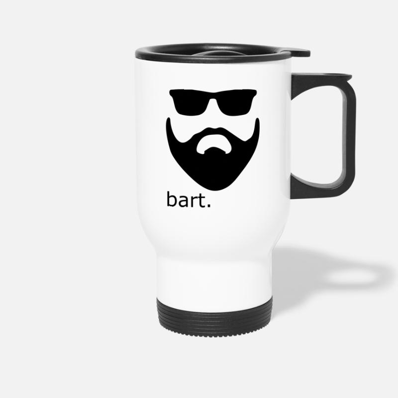 Bearded Mugs & Drinkware - Beard - Beard - Travel Mug white