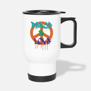 PEACE AND LOVE TAG - Mug isotherme