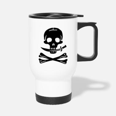 Pirate Skull Pirate Pirates Skull - Travel Mug