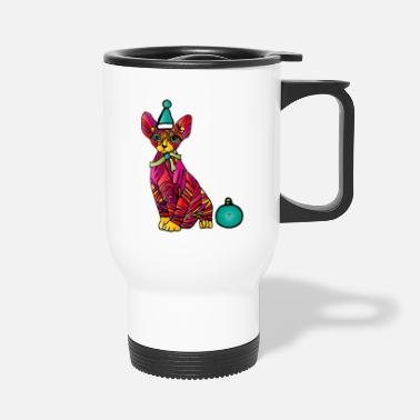 Katzen Ugly Christmas-Cat - Thermobecher