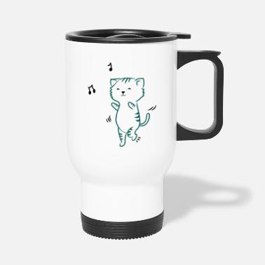 dancing cat - Thermobecher