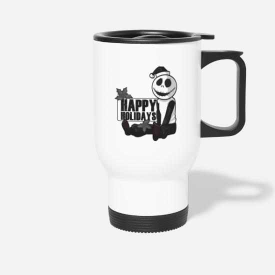 Happy Mugs & Drinkware - Happy happy Christmas GIFT - Travel Mug white