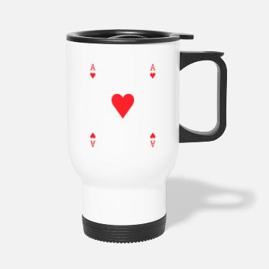 Corazon As de corazones - Travel Mug