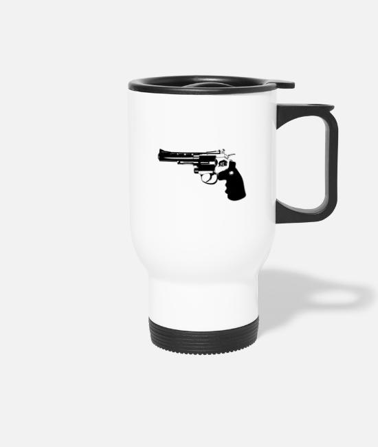 Gun Mugs & Drinkware - revolver - Travel Mug white