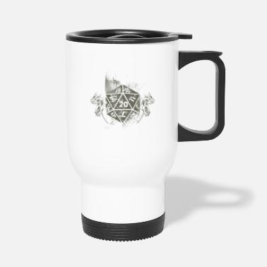 Dés Dragons Vintage D20 Dice Tabletop RPG - Mug isotherme