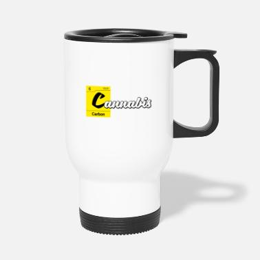 Carbon Cannabis Periodic Table Carbon - Travel Mug