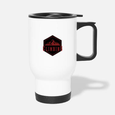 Mountain Climbing Climbing in the mountain - climbing in the mountains - Travel Mug