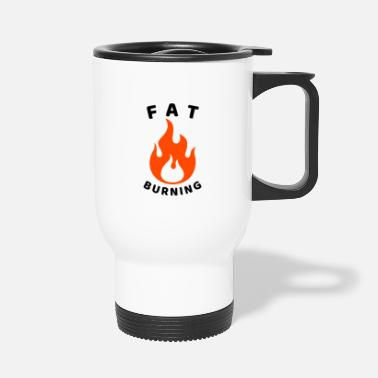 Pain Fat burning gym workout. - Travel Mug