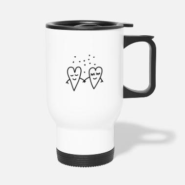 Lovely Valentines Day Love Hearts Couple Relationship girlfriend - Travel Mug