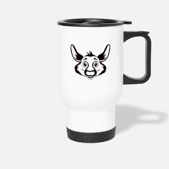 Mammal Mugs & Drinkware - Kangaroo mammal animalis - Travel Mug white