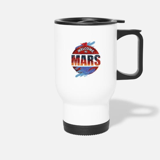 Birthday Mugs & Drinkware - Planet Mars Shirt - Travel Mug white
