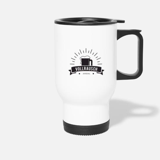 Kaboom Mugs & Drinkware - FULL PROMISE - ASOZIAL - Travel Mug white