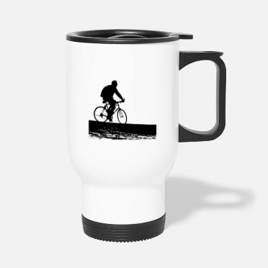 Bicycle Tour Biker - Touring on Bike - Bicycle Tour - Travel Mug