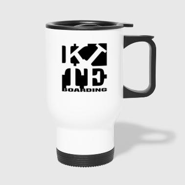 kite homage to robert Indiana boarding black - Travel Mug