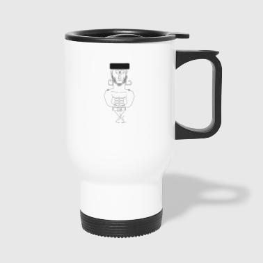 Scinny muscle man with hat - Travel Mug