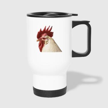 hahn huhn chicken hen gefluegel - Thermobecher