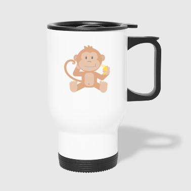 Monkey with banana - Travel Mug