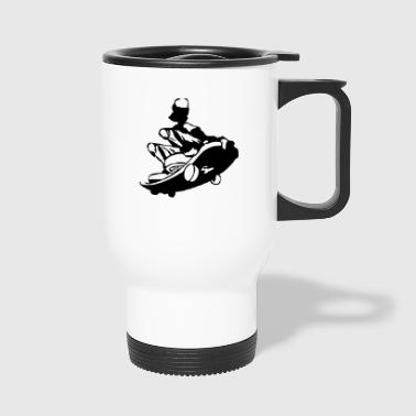 skater skateboard boarder skateboarding15 - Travel Mug