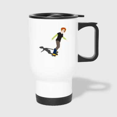 skater skateboard boarder skateboarding6 - Travel Mug