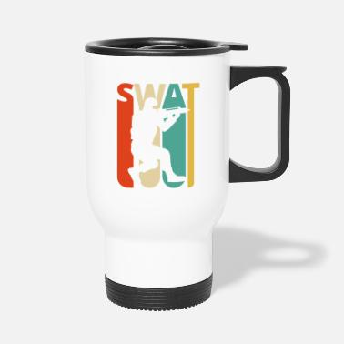 Retro Vintage Retro Swat Team.CO19. Police. Swat Officer - Travel Mug