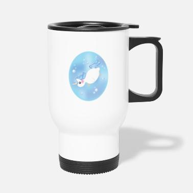 Swimming Mane Water unicorn - Travel Mug
